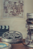 Reels of old movies Stock Photos