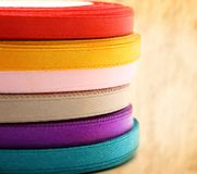 Reels of ribbon Royalty Free Stock Images