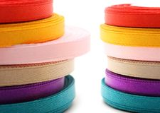 Reels of ribbon Stock Photos