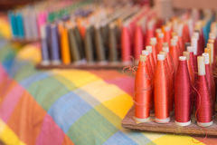 Reels of silk threads Stock Photography