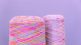 Reels or spools of multicolored sewing threads. Threads of all colors Stock Image