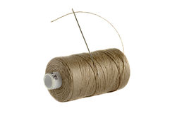 Reels of thread. On white royalty free stock image