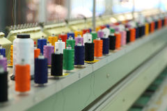 Reels of thread. On Machine embroider Royalty Free Stock Photo