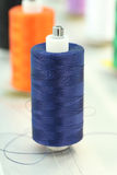 Reels of thread. On Machine embroider Royalty Free Stock Photography