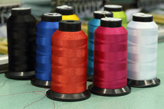 Reels of thread. Of Machine embroider Stock Images