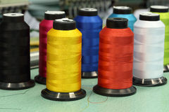 Reels of thread. Of Machine embroider Royalty Free Stock Photos