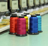 Reels of thread Stock Photo