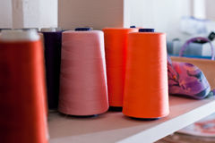 Reels of Threads Stock Image