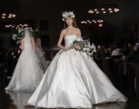 Reem Acra Bridal SS 2019 Stockbild