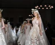 Reem Acra Bridal SS 2019 Lizenzfreies Stockbild
