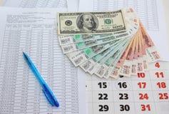 Reembolso das contas a pagar no tempo imagem de stock royalty free