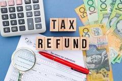 Reembolso de imposto - Austrália imagem de stock royalty free
