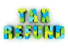 Reembolso del impuesto Fotos de archivo