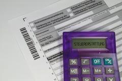 Reembolso del impuesto alemán Imagen de archivo