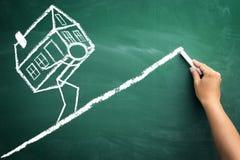 Reembolso dos empréstimos para a casa fotos de stock royalty free