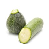 Reen zucchini isolated on white background. Royalty Free Stock Photo