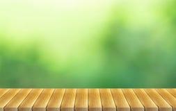Reenaard vage achtergrond en houten vloer stock illustratie