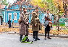 Reenactment вооруженные акции чехословацкого легиона в Стоковая Фотография RF