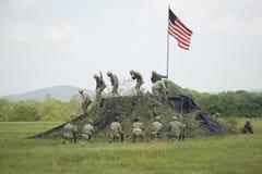 Reenactment Второй Мировой Войны морских пехотинцов США Стоковые Фото