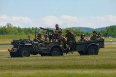 Reenactment Второй Мировой Войны сражения Стоковые Фотографии RF