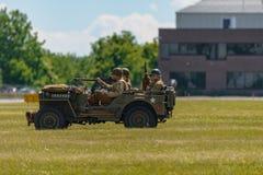 Reenactment Второй Мировой Войны сражения Стоковое фото RF