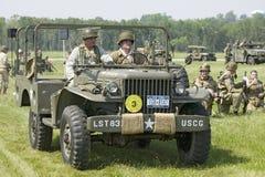 Reenactment Второй Мировой Войны Стоковая Фотография