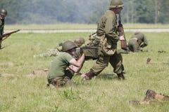 Reenactment Второй Мировой Войны Стоковые Фотографии RF