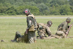 Reenactment Второй Мировой Войны Стоковые Изображения RF