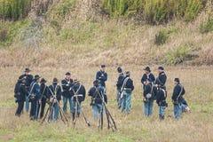 Reenactment гражданской войны Стоковая Фотография RF