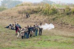 Reenactment гражданской войны Стоковые Изображения RF