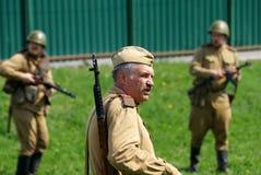 Reenactment событий Второй Мировой Войны стоковое изображение rf