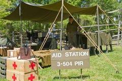 Reenactment сражения Второй Мировой Войны Стоковое фото RF
