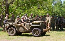 Reenactment сражения WWII Стоковые Фото