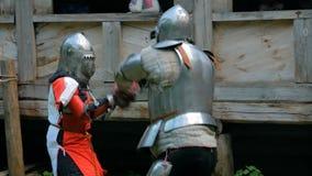 Бой 2 средневековый рыцарей акции видеоматериалы