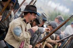 Reenactment 2008 da guerra civil Imagens de Stock