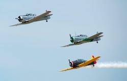 Reenactment aéreo da batalha da guerra de mundo Imagens de Stock