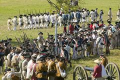 Reenactment of Attack on Redoubts 9 & 10 Royalty Free Stock Images