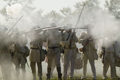 Reenactment av attack på skans 9 & 10 Royaltyfri Fotografi