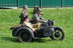 Reenactment av händelser för världskrig II royaltyfria bilder
