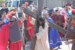 Reenactment av passion av Kristus fotografering för bildbyråer