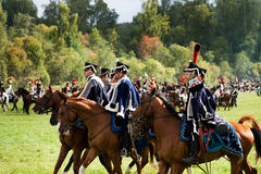 Reenactment battle of the Borodino Stock Photography