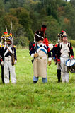 Reenactment battle of the Borodino close up Stock Image