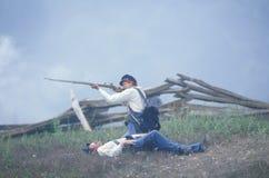 Reenactment of the Battle of Manassas Stock Photography