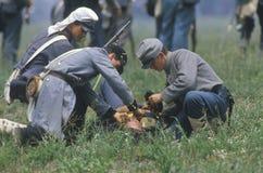 Reenactment of the Battle of Manassas Stock Image