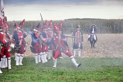 Reenactment of Battle of Marsaglia (October 1693) Royalty Free Stock Images