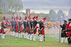 Reenactment of Battle of Marsaglia (October 1693) Stock Images