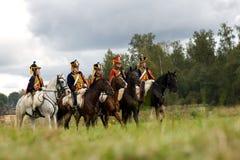 Reenactment of Borodino battle Royalty Free Stock Image