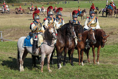 Reenactment of the Borodino battle Royalty Free Stock Photography