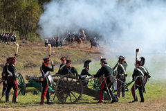 Reenactment of the Borodino battle Royalty Free Stock Images