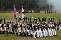 Reenactment of the Borodino battle Stock Photo